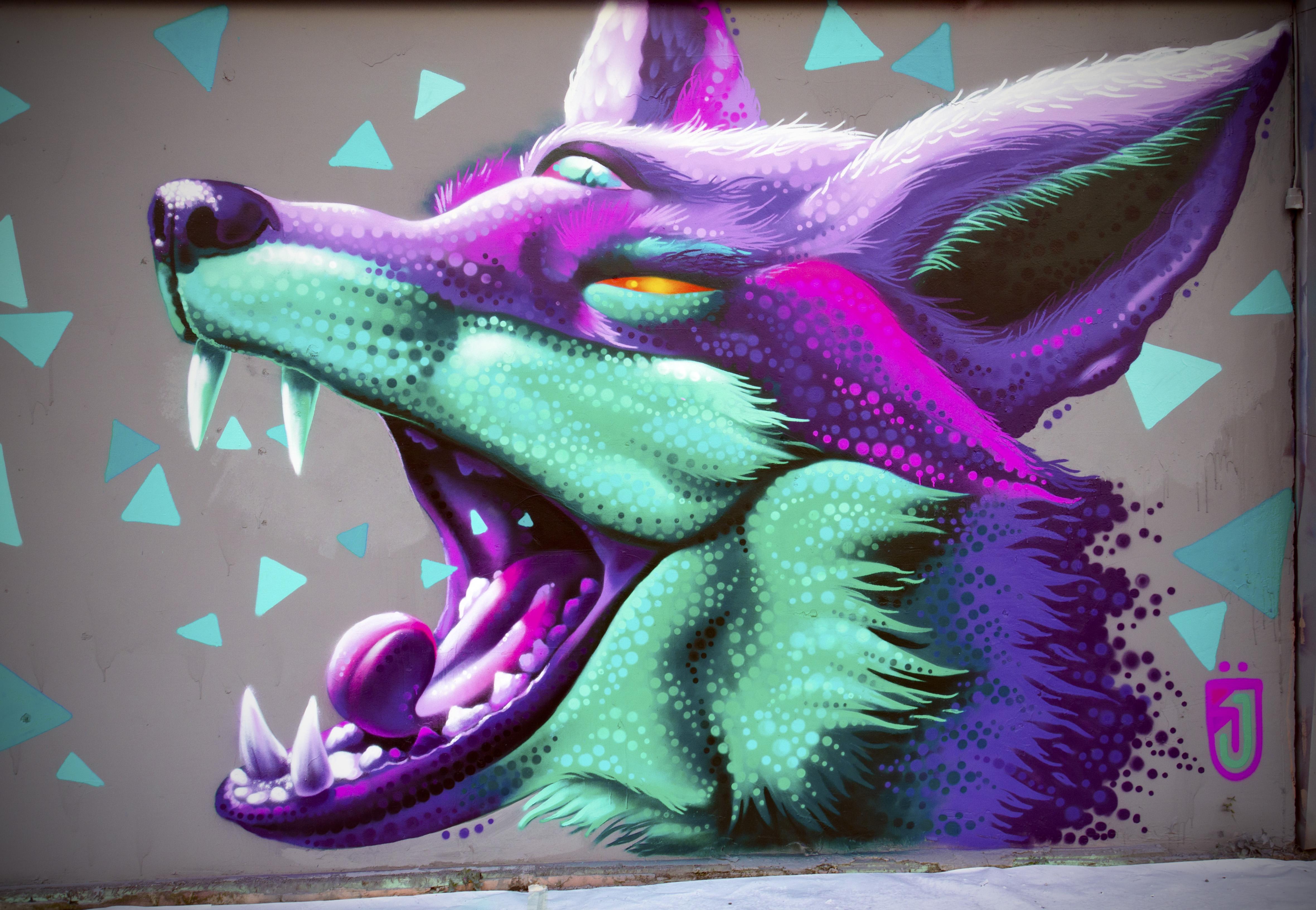 Jahone graffiti mural street art
